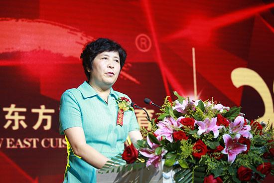 世界中餐业联合会会长杨柳讲话